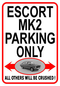 Ford Escort MKII MK2 Rally Car Iconic 80s Classic Fridge Magnet