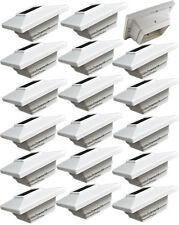 18-Pack 4X4 4SMD LED Outdoor Solar Garden LED White Post Cap Fence Square Lights