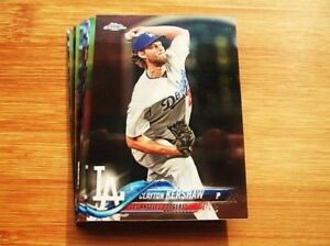 2018-Topps-Chrome-LA-Dodgers-TEAM-SET