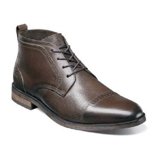 Stacy Adams Homme Burgess Cap Toe Chukka marron bottes en cuir 25059-200