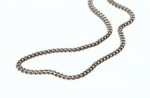Phiten Titanium chain Necklace 60cm 0505TC06 silver unisex 4940756113073