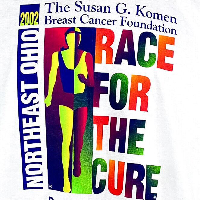Susan G Komen Race for the Cure Northeast Ohio 2002 TShirt - XL