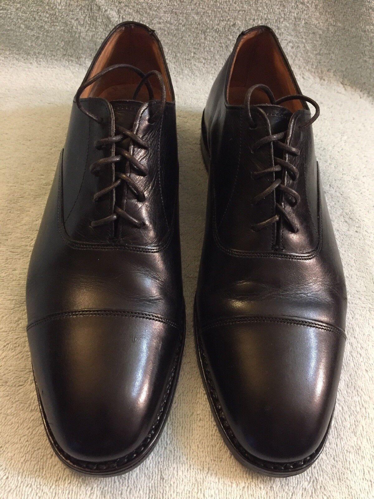 Barneys New York mano hecha hecha hecha a mano Inglaterra D 9.5 Negro para Hombre Hecho en Italia cbbd4c