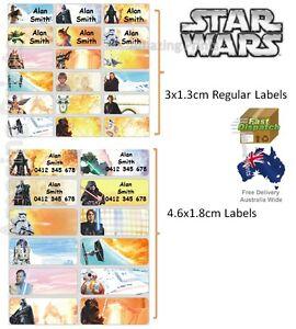 star wars vinyl personalised name label sticker school book boy tag