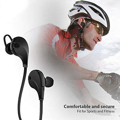 AURICOLARE BLUETOOTH BLUETOOTH HEADSET WIRELESS CUFFIE PER STEREO SPORT EARPHONE qTqrwYRd