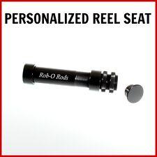 Fly rod reel seat gunsmoke with mahogany spacer
