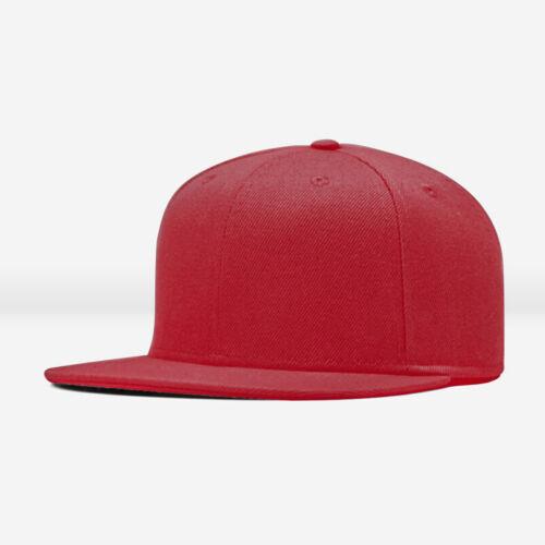 ZH Men Blank Plain Snapback Hats Unisex Hip-Hop Adjustable Bboy Baseball Caps
