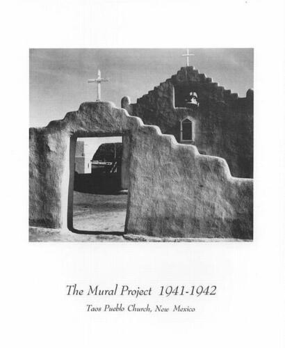 Ansel Adams Photo-Art Print TAOS PUEBLO CHURCH 8x10 In