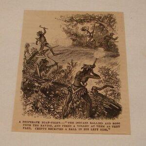 1880-Revista-Grabado-Nativo-Americanos-Desperate-Boat-Fight
