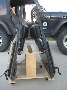 jeep wrangler tj or jk 2 door storage cart  door holder ebay
