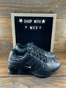 Nike-Shox-NZ-EU-Mens-Running-Shoes-Black-White-Black-501524-091-NEW