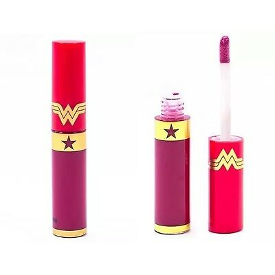 New Limited Edition Wonder Woman Lip Gloss Mighty Aphrodite Athena's Kiss