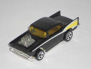 Hot-Wheels-1-Loose-Vehicle-039-57-Chevy-Black-w-5SPs-Chrome-Base