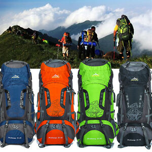 Sports & Entertainment 80l Large Capacity Outdoor Sport Trekking Camping Hiking Backpacks 6 Colors Sport Travel Climbing Bag Outdoor Backpack 100% High Quality Materials