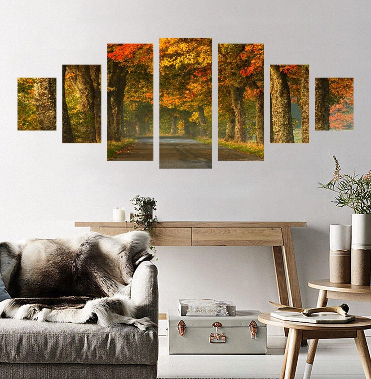 3D Fall Tree Road 73 Unframed Print Wall Paper Decal Wall Deco Indoor AJ Jenny