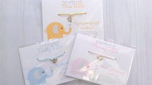 Wishing-Bracelet-BABY-ELEPHANT-Mum-Dad-To-Be-SHOWER-Gift-Girl-Boy-Unisex-Wish