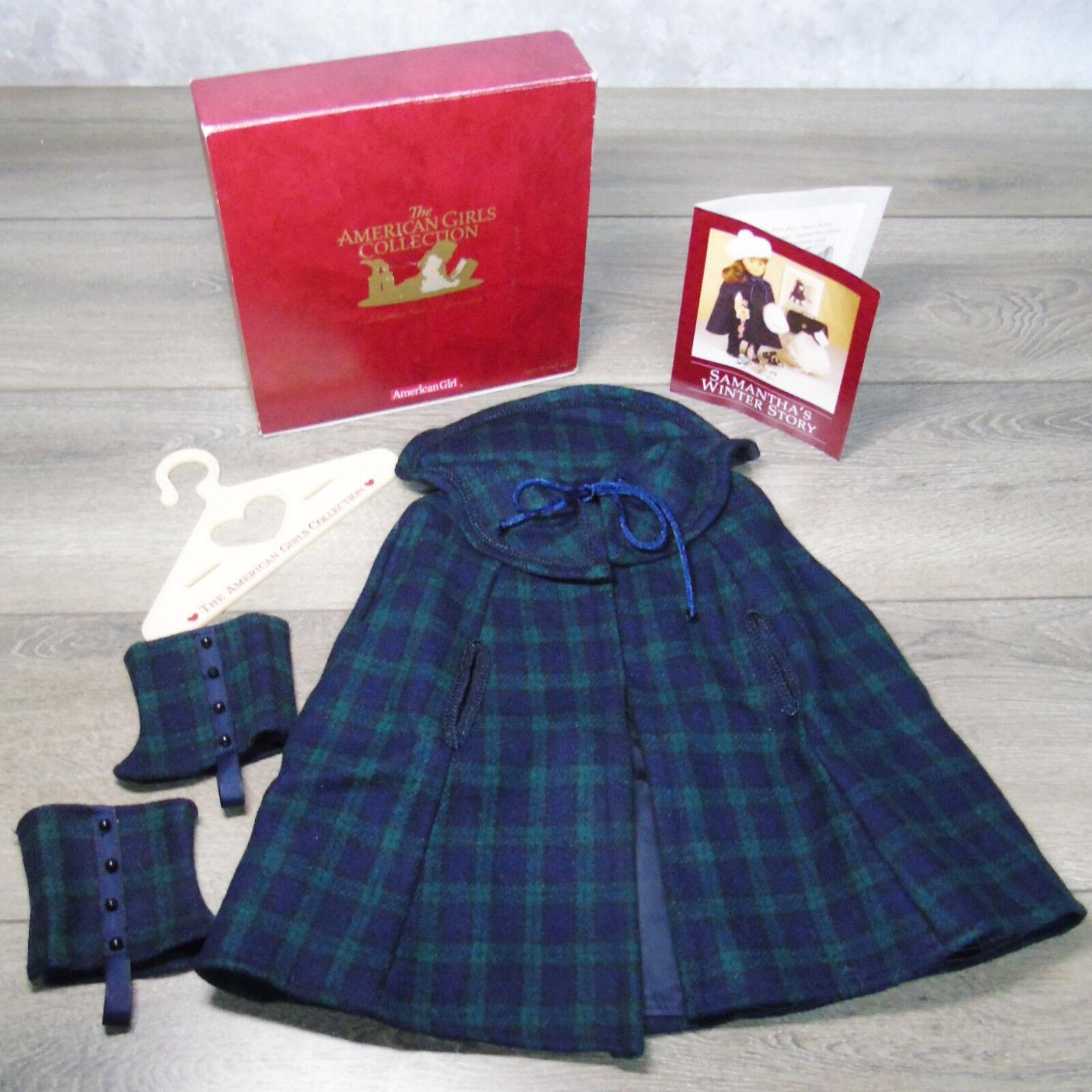 American Girl Bambola Samantha Plaid Mantella & Ghette Inverno Cappotto Completo