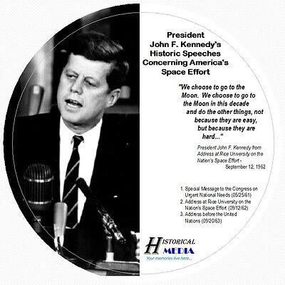 KENNEDY SPEECHES ON NASA AMERICA/'S SPACE EFFORT 3 SPEECHES ON 1 AUDIO CD JOHN F