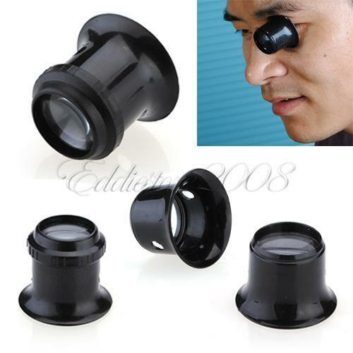 3x 4x 5x 8x 10x Watch Magnifier Jeweler Loupe Magnifing Eye Len Repair Kit Tools