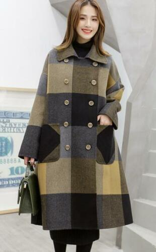 Coat Double Lapel Trench Colors Parka Breasted Outerwear Oversize Mixed Kvinners zwgq1qd