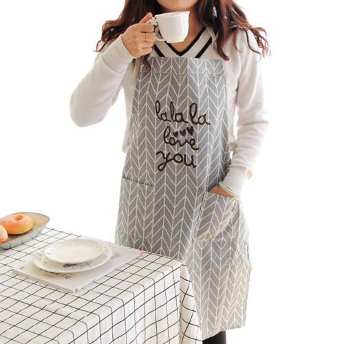 Schürze aus Baumwolle Kochen Backen Damen Küchenschürze Latzschürze Kochschürze
