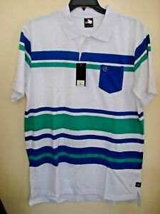 ea02a9fddce0b Men s Southpole Polo Shirt Striped Royal Blue Size Large New ...