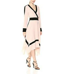 NEW-BCBG-MAXAZRIA-BAMBI-COLOR-BLOCKED-WRAP-DRESS-LMQ69N12-L573W-SIZE-XS