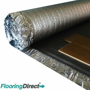 Image Is Loading 5mm Sonic Platinum Underlay Wood Laminate Flooring Acoustic