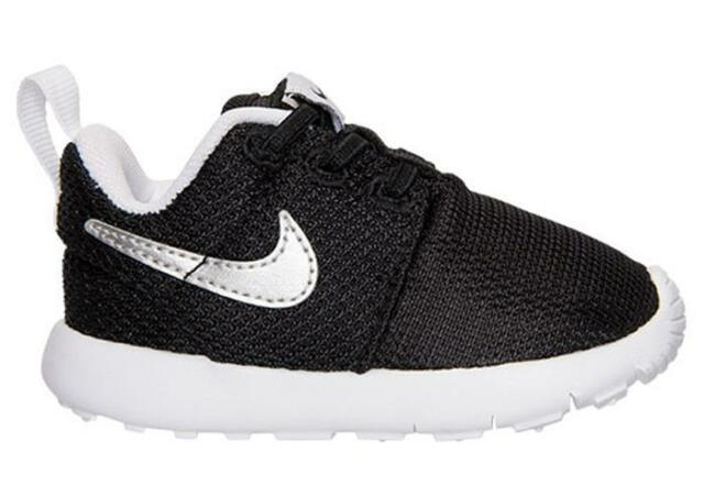 low priced 93be7 7f9d0 NEW 749430 021 Toddlers' Nike Roshe One (TDV) Shoe!! BLACK/METALLIC SILVER
