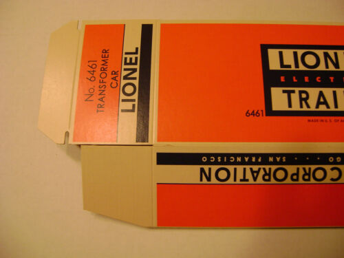 Reproduction Lionel 6461 Licensed Transformer Car Box
