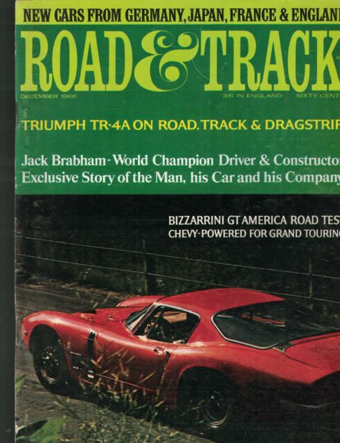 Road & Track Magazine December 1966 Jack Brabham Triumph TR-4A