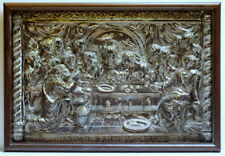 "Mid Century ""The Last Supper"" in High Relief Embossed Copper"