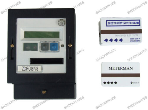 Ampy cardmeter prépaiement ELECTRIC SLOT Meter /& 250 x £ 5 cartes d/'électricité 100 A