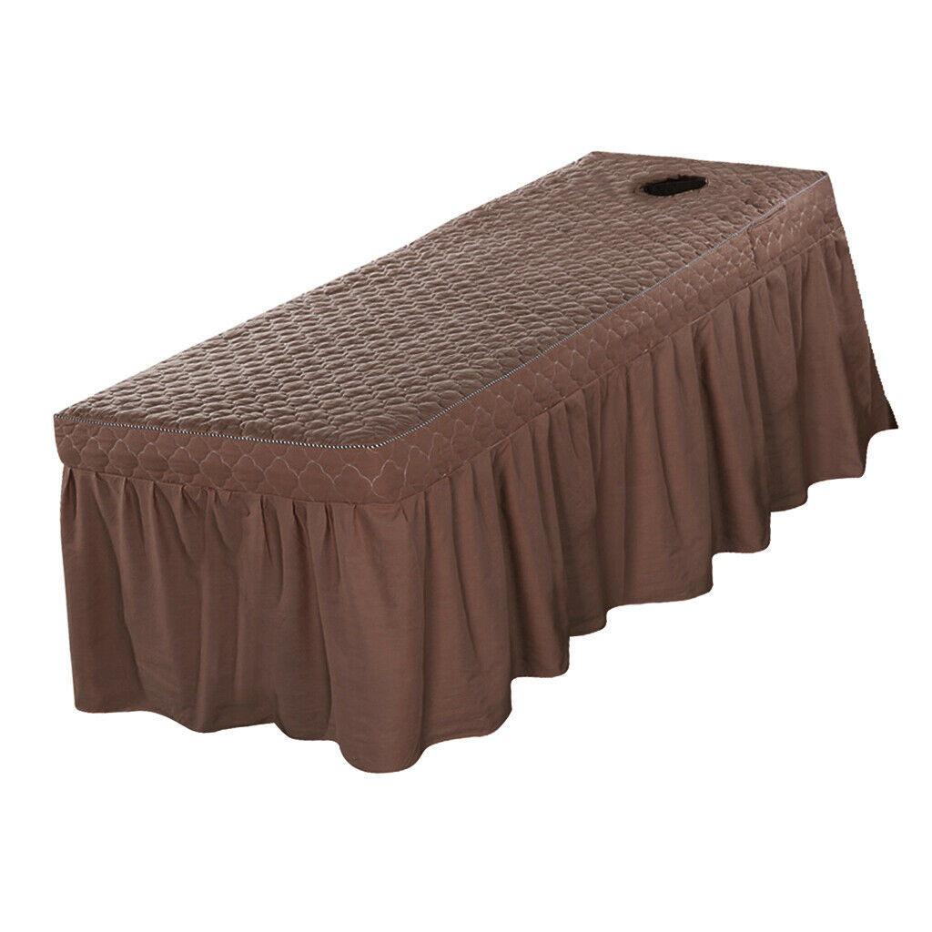 Spa Massage Bed Cover Sheet Beauty Table Skirt 21  Drop 80x190cm Coffee
