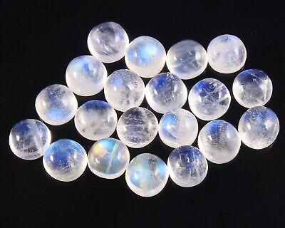 20 Piece Rainbow Moonstone 5 mm Round Gemstone cabochon