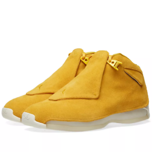 2018 Nike Air Jordan 18 XVIII Retro Yellow Ochre Size 12. AA2494-701