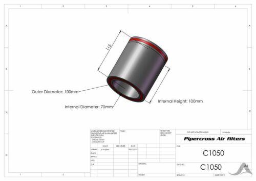 Pipercross Trichtersocken Luftfilter Ansaugtrichter Vergaser Weber Solex C1050