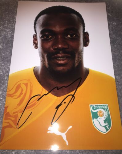 "Arthur Boka Signed Press Picture 12"" X 8"" Ivory Coast Stuttgart"