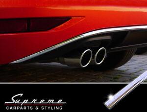 VW Touran 5T ab 2015 Chrom Zierleiste 3M Heckleiste Bogen Rahmen