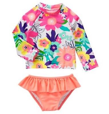 NWT Gymboree Swim Shop Toddler Girl Rash Guard Tankini Swimsuit 6-12month to 5T