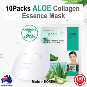 10x-DERMAL-Aloe-Moisture-Collagen-Essence-Facial-Face-Care-Mask-Sheet-Korean