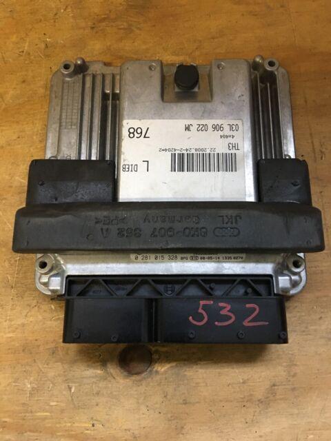 Audi A4 B8 8K ECU Unidad de Control Del Motor 03L906022JM 0281015328 Bosch
