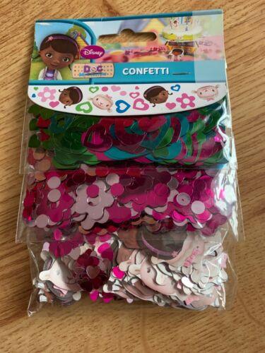 3 Packs DISNEY DOC MCSTUFFINS CONFETTI Sprinkles Crafting TABLE DECORATION