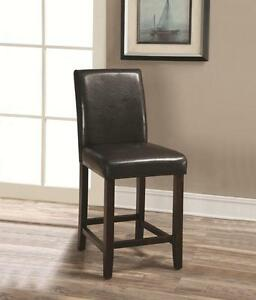 """24"""" Dark Brown Parsons Counter Height Stool Chair by Coaster 130059 - Set of 2"""