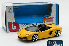 Lamborghini Aventador Roadster in Yellow, Bburago 18-30000, scale 1:43, toy car