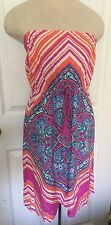 Anthropologie Flying Tomato Dress Small Sleeveless Bandana Print Festival