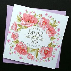 Image Is Loading Handmade Birthday Card Vintage Peonies Mum Nan Nana