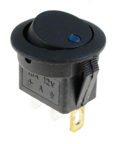 2 x Blue LED On//Off Round Rocker Switch Lighted Car Dashboard Dash 12V