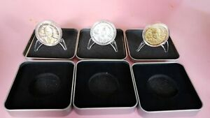 2016 PHILIPPINES 30 6 2016 Inauguration Duterte Bronze Silver Gold MEDALS 3 sets