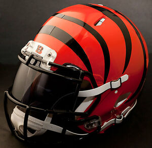 f08a1adde Image is loading CUSTOM-CINCINNATI-BENGALS-NFL-Riddell-Revolution-SPEED- Football-